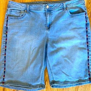 Lane Bryant Size 20 Colorful Stripe Bermuda Shorts